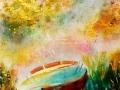 La Barque,   Acrylique, Aquarelle et Pastel
