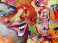 Etude pour Carnaval 2 (Détail), Aquarelle, encre et acrylique, 2017