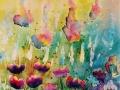 Rencontre de printemps,   Aquarelle