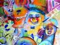 Etude pour Carnaval 1 (Détail), Aquarelle, encre et acrylique, 2017