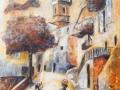 Contes, L'avenue Borriglione, Fresque, 10F, 2014.