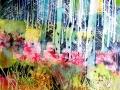 Le petit Bois du Plasay, 10F, Encres acryliques sur toile, 2017.